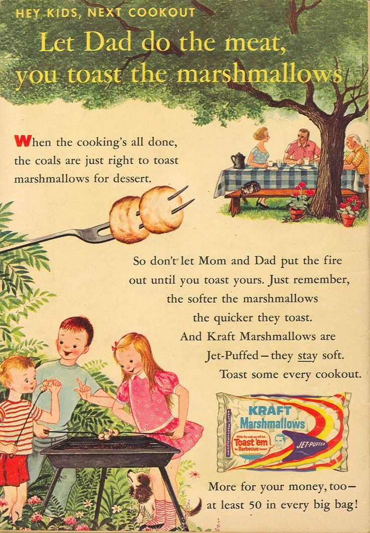 A charming vintage marshmallow ad