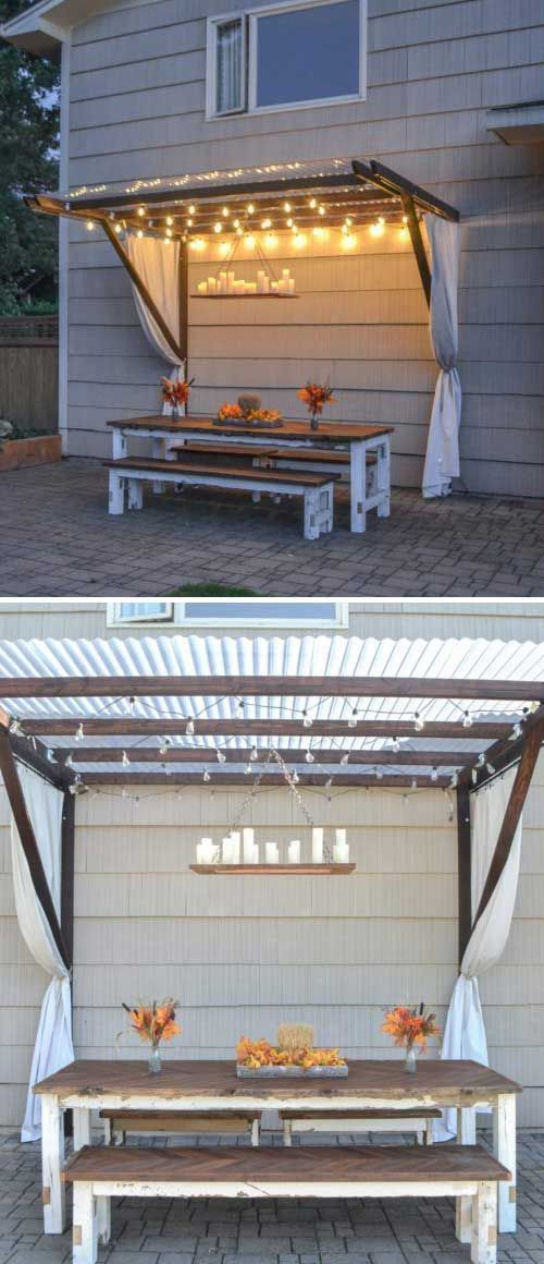 20 Insanely cool DIY garden and terrace furniture, #Coole #DIYGarten # Terrace furniture #and # …