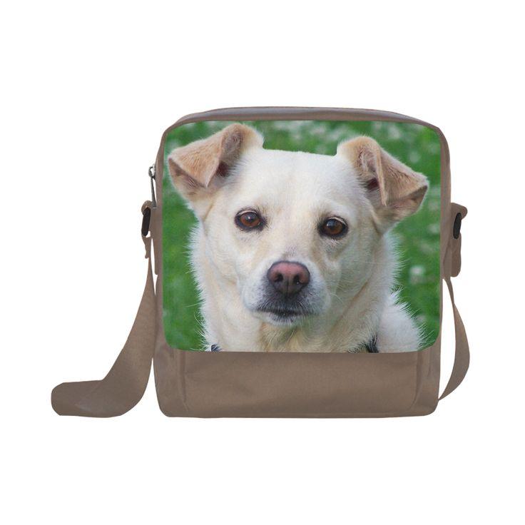 Dog face close-up Crossbody Nylon Bags (Model 1633)