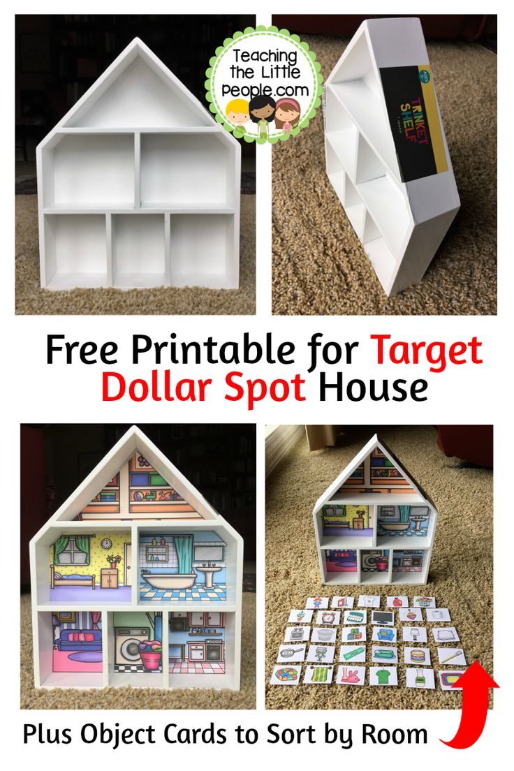 Free Printable for Target Dollar Spot House: www.teachingthelittlepeople.com