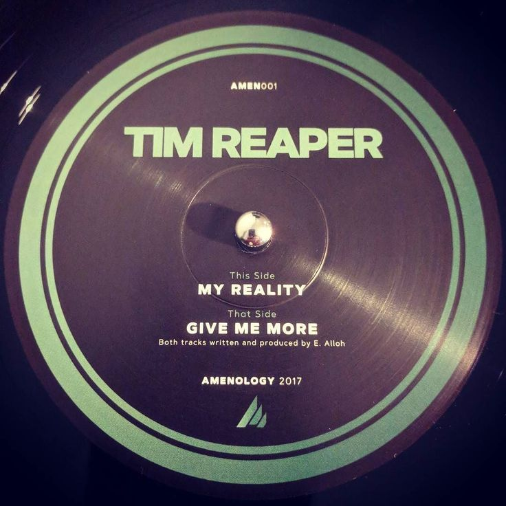 #nowspinning Tim Reaper - Give Me More / My Reality. Amenology: AMEN001 (2017). I bloody love Tim Reaper. This EP is amen . First release for the label that will be focusing on the amen break. Win. Limited to 300 transparent green/black wax. Who will start #apacheology?#dnb #drumandbass #drumnbass #jungle #timreaper #amenology #amen #vinyl #vinyljunkie #record #recordcollector #recordcollection #recordplayer #igvinylclub #igvinylcommunity #instavinyl