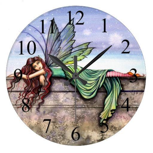Star Gazer Fairy Fantasy Art Wall Clock