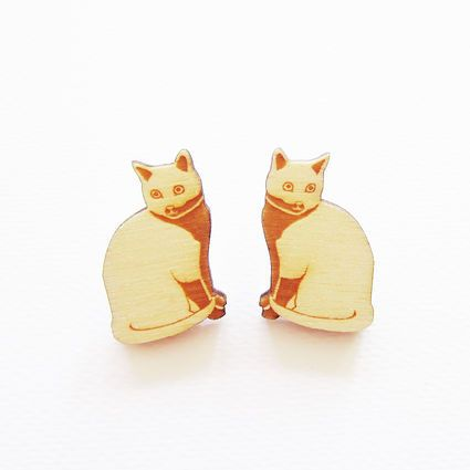 Kissa-nappikorvakorut | Weecos