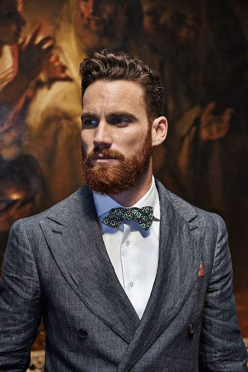 I love how some guy's beards grow in red when their hair is dark. They must have been redheads in their youth.