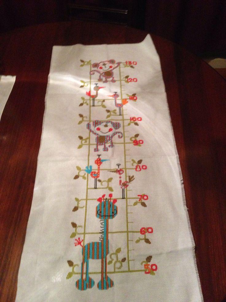 Jungle Height Chart Cross Stitch