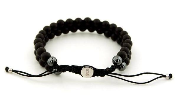 Onyx Stone Bracelet,Shamballa Style,https://www.imperastraps.com