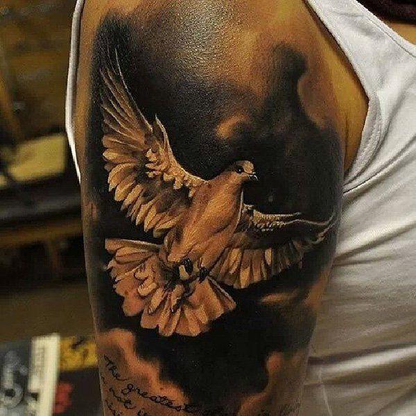 21  realistic dove tattoos
