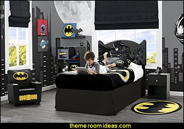 Justice League Upholstered Twin Bed Superhero Bedroom Ideas