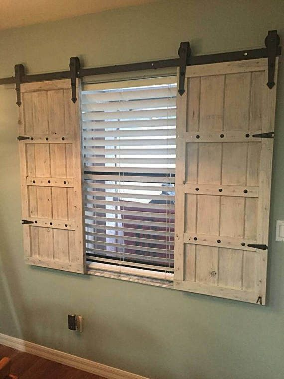 Sliding Barn Door Shutters In 2020 Barn Door Shutters Home Remodeling Barn Door Window