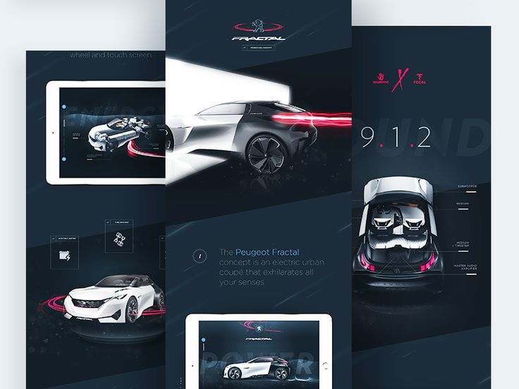 Peugeot Fractal - Case Study by Steve Fraschini #Design Popular #Dribbble #shots