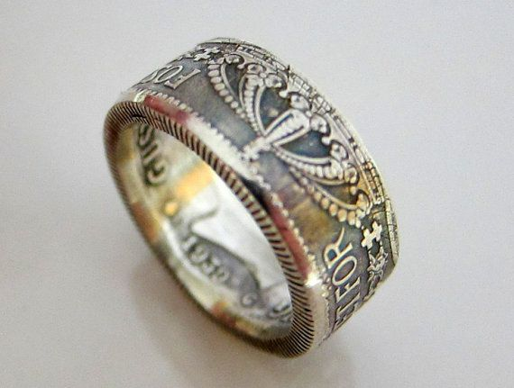 Sweden 1939 2 Kroner Silver Coin Ring Size 9.5 Nice coin ring for sale. But EHHH. Pictures are blurry. Crap. Will have to take new ones....