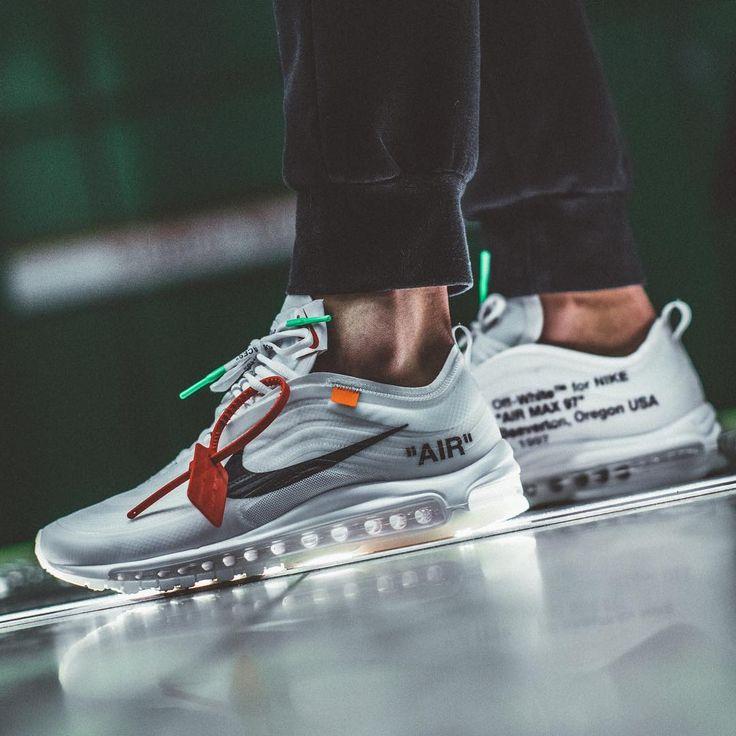 Air Max 97 Off White On Feet Cheap Nike Air Max Shoes 1 90 95