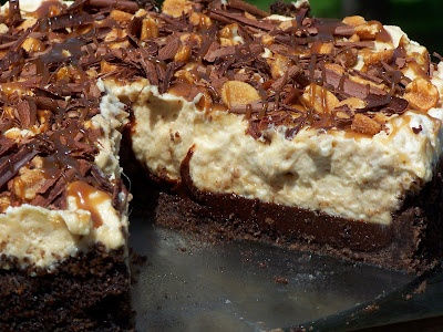 Black Bottom Peanut Butter Mousse Pie | Sweet Treats | Pinterest