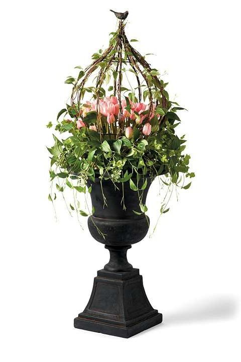 Your guests will think you had a professional florist arrange the Tulip Urn Filler; a gorgeous floral arrangement that never needs watering.