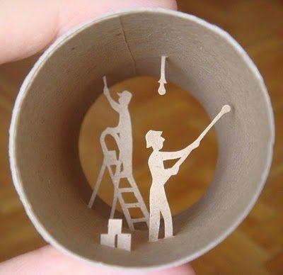 Van WC rol kijkdoos diorama maken - Hobby.blogo.nl