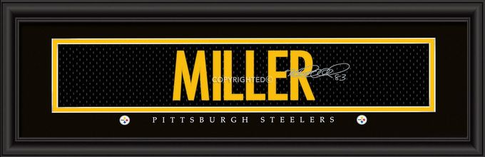 "Pittsburgh Steelers Heath Miller Print - Signature 8""""x24"""""