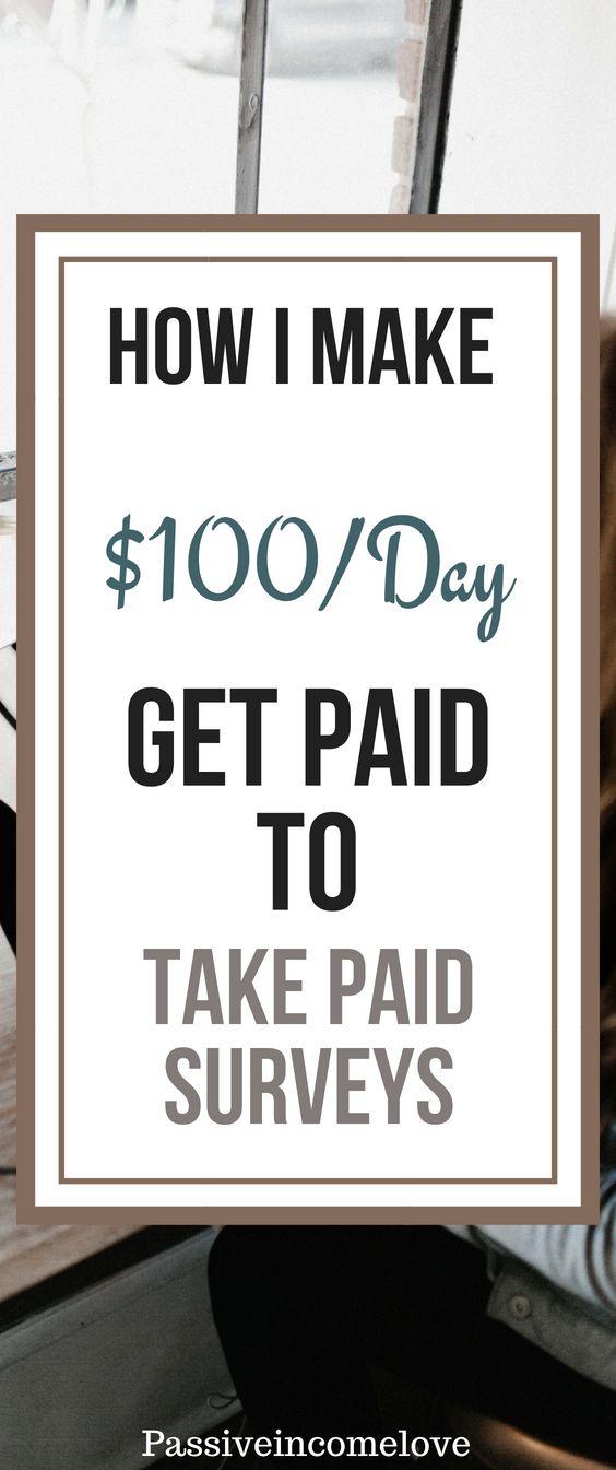 Wie mache ich $ 100 am Tag, indem ich bezahlte Umfragen mache?