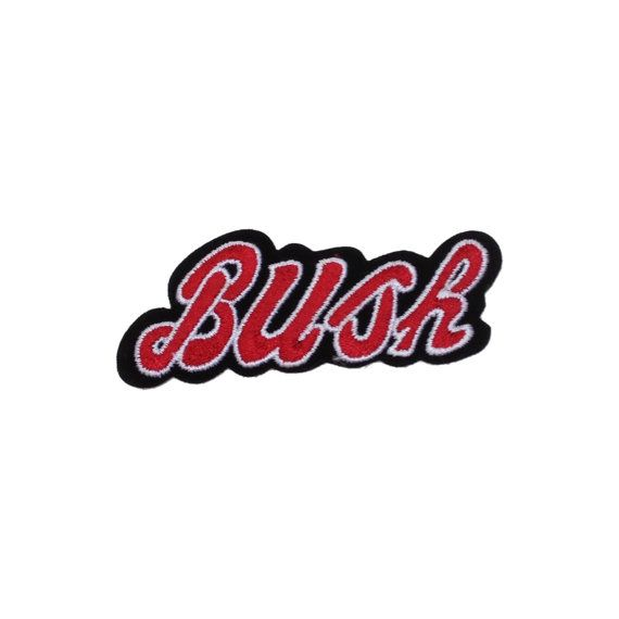 Bush rock band embroidered iron on patch die cut new
