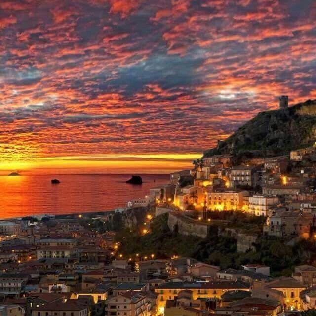 sunset Amantea italy