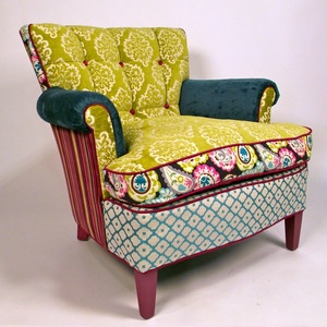 Color combos. Laadedah chair by Shawna Robinson