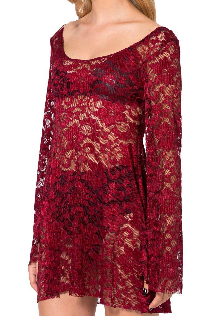 ARABELLA WINE DRESS - M