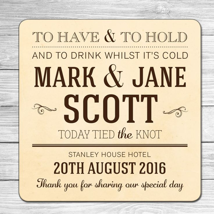 PERSONALISED BEER MATS (WEDDING, SAVE THE DATE, HEN, STAG) | eBay