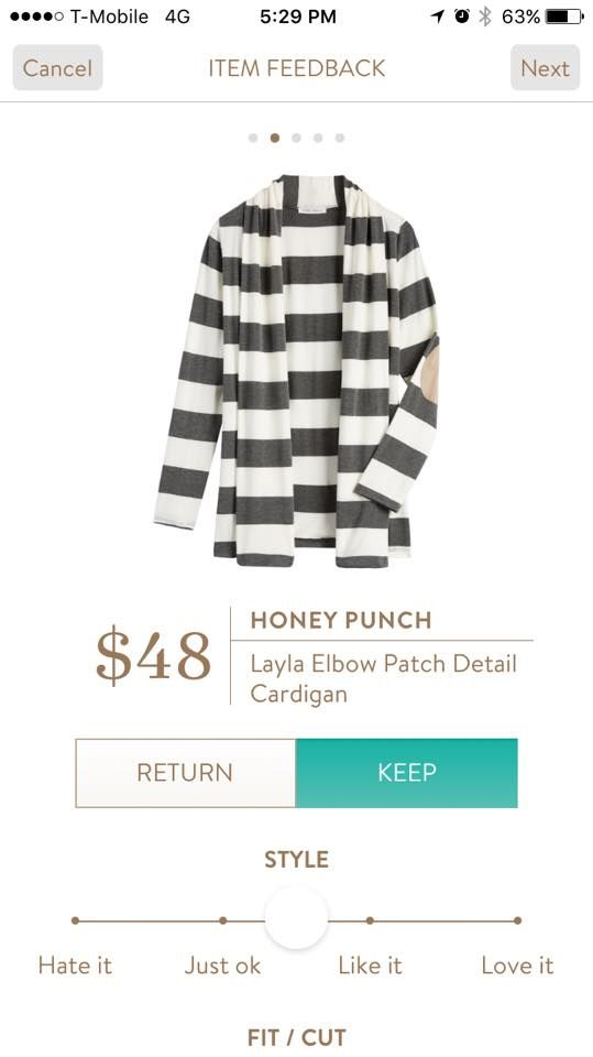 Honey Punch Layla Elbow Patch Detail Cardigan