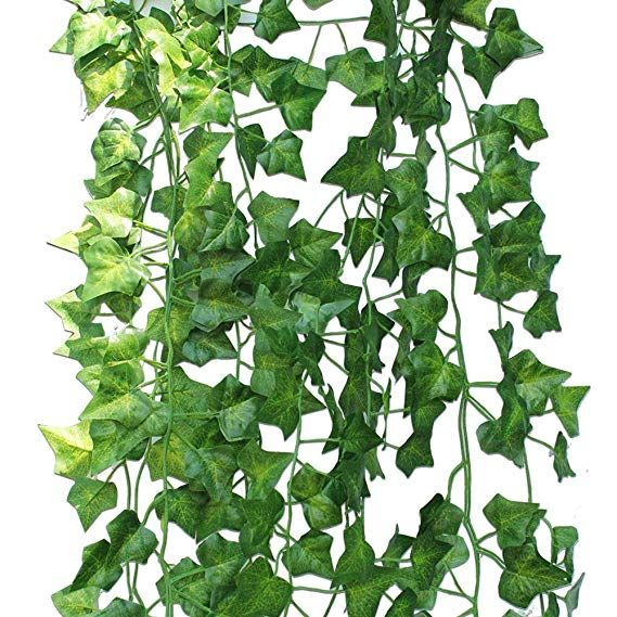 2pcs Artificial Silk Trailing Vine Flower Plant Wedding Garland Foliage Ivy