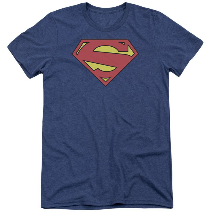 Superman New 52 Shield Adult Tri-Blend T-Shirt