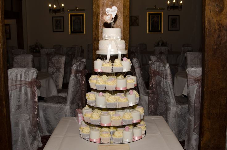 Tower of wedding cupcakes.  Suffolk Weddings