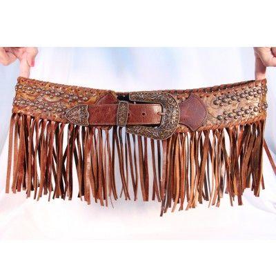 Kurtmen Fringe and Studs Ladies Belt - Belts - Womens - Clothing Accessories | D Farm and Ranch Clothing, Shoes & Jewelry - Women - women's belts - http://amzn.to/2kwF6LI