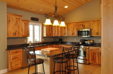 Modern Kitchens With Pine Cabinets Knotty Hickory Cabinets Design Ideas Pictures Remodel And Decor Projects To Try Pinterest Pine Cabinets
