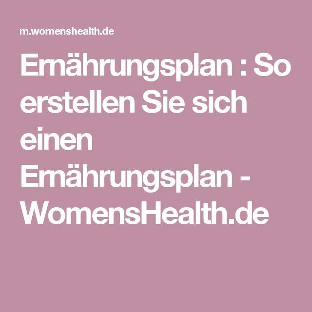 Ernährungsplan : So erstellen Sie sich einen Ernährungsplan - WomensHealth.de