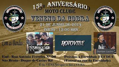 Jornal dos Moto Clubes: 15° ANIVERSÁRIO DO MOTO CLUBE VENENO DA COBRA