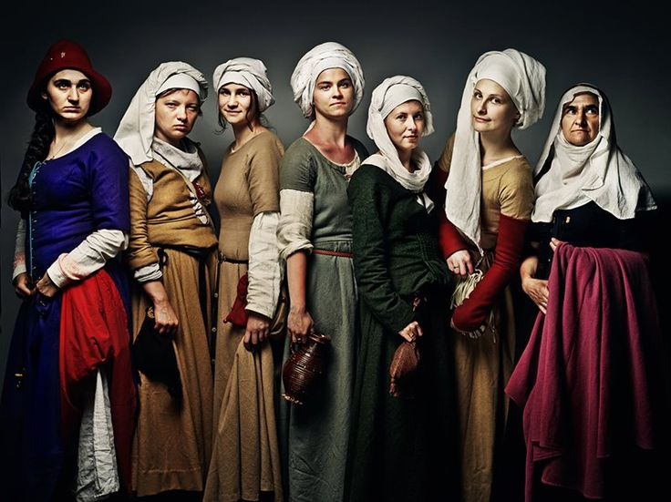 Don't these 14th-15th century ladies look like badasses? That's because they are. They are total badasses.