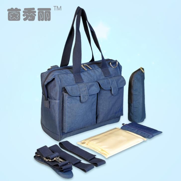 Free Shipping Deluxe Baby Diaper Bags Fashion Nappy Bags Large Capacity Mommy Bags Stroller Bags