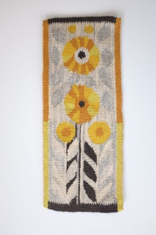 mid-century sunflower tapestry - evelyn ackerman style