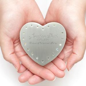 Sparkling Heart Keepsake Cremation Urn: Heart Stones, Keepsake Heart, Sparkle Heart, Heart Keepsake, Jade Heart
