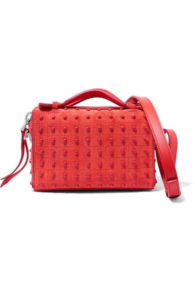 Tod's | Bauletto embellished suede shoulder bag | NET-A-PORTER.COM