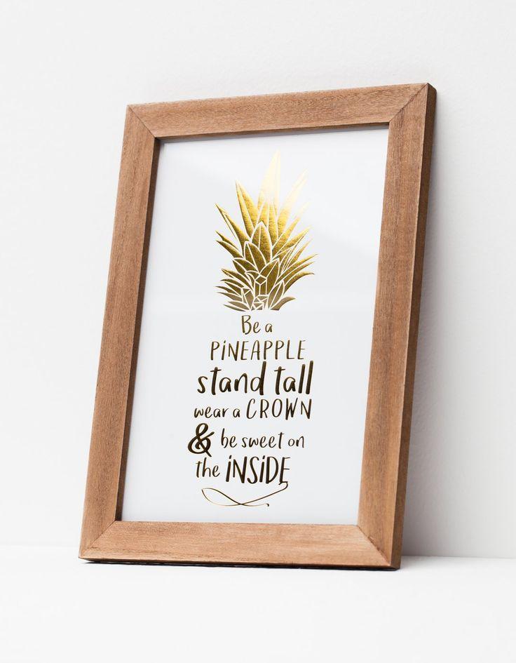 Obrazek z ananasem - Nowości | Stradivarius Polska