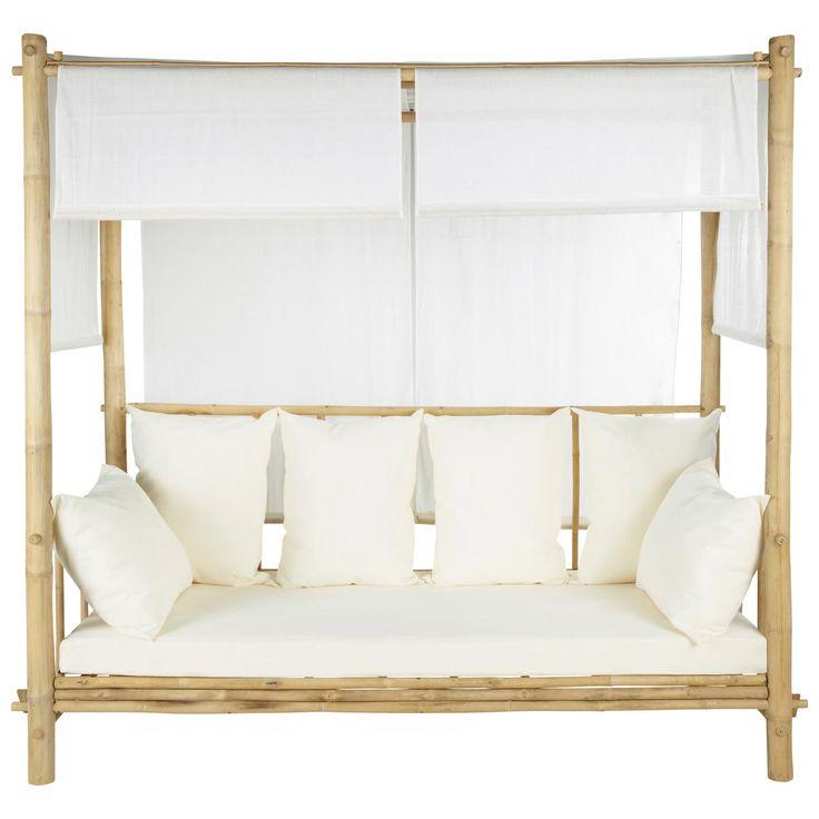 Divanetto a baldacchino da esterno in bambù ROBINSON