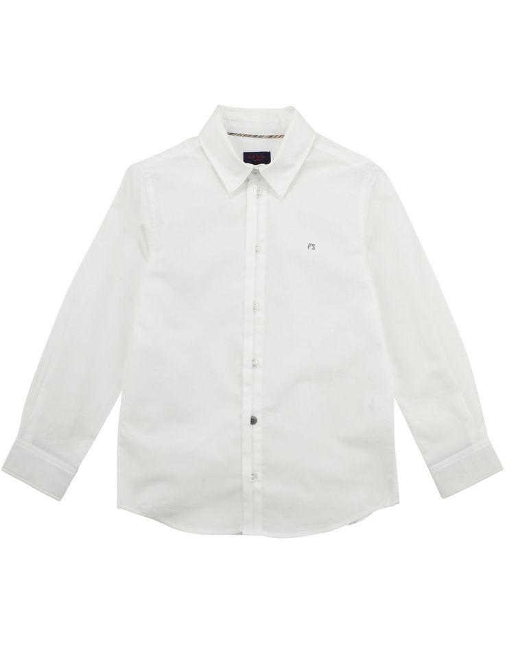 PAUL SMITH JUNIOR  Boys White Cotton Shirt with Stripe Details  from €90,00  now €45,00