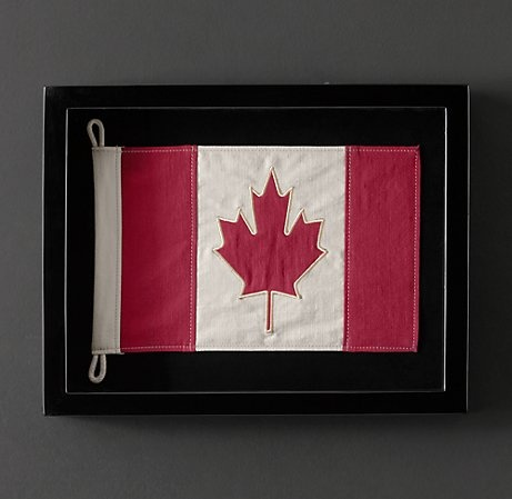 Sweet. Canadian flag Restoration Hardware