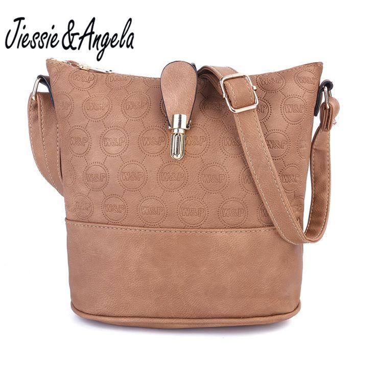 Jiessie&Angela New Cross Body Women Bag Leather Handbags Vintage Shoulder Bags Fashion Messenger Bag Bolsas Femininas //Price: $20.66 & FREE Shipping //     #hashtag2