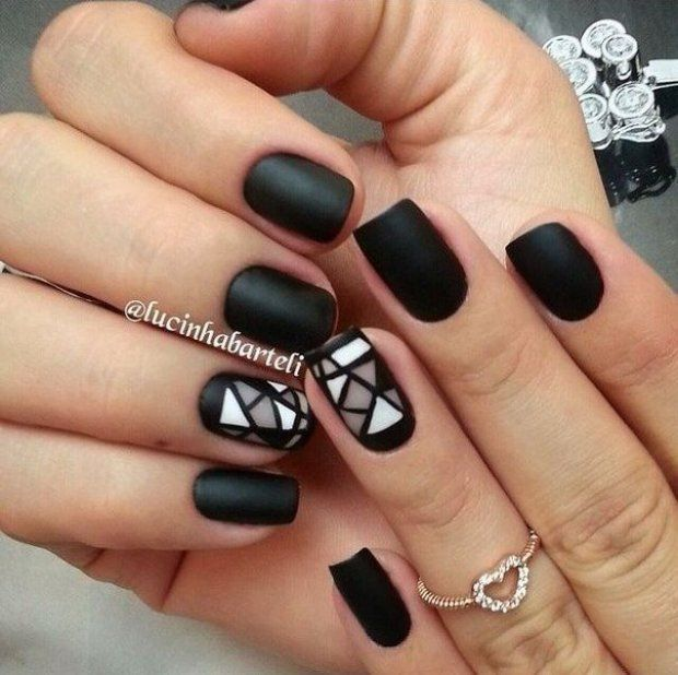Best 25+ Black Shellac Nails Ideas On Pinterest
