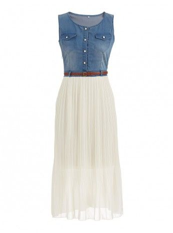 Chiffon and denim dress from Mishah (R650)