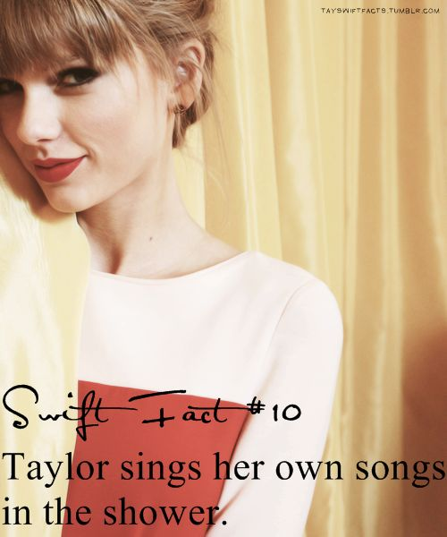 Swift fact<3 cause shes awesome like that :)