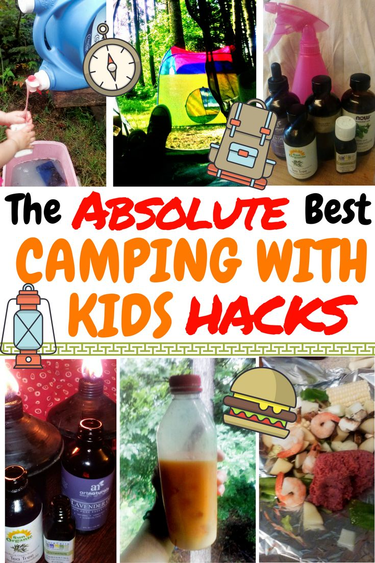 This roundup of great camping with kids hacks is priceless! 10 great camping tricks that are borderline genius. Get ready to grab your tent, cook some great food, and save a ton of money with these DIY camping hacks!