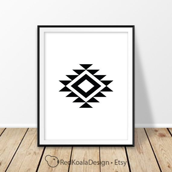Navajo print, Aztec wall art, Southwestern decor, Abstract art, Geometric Decor, Tribal, Black and white, Modern Minimalist, Digital print by RedKoalaDesign on Etsy