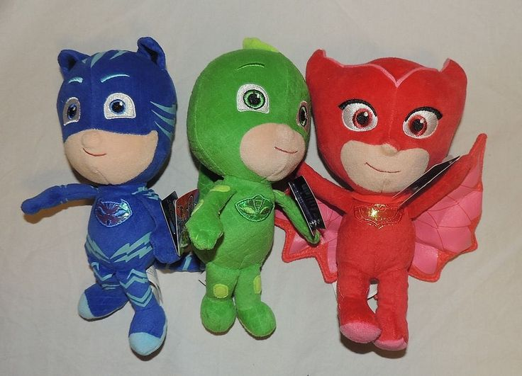 New PJ Masks Plush Toy Stuffed Animal Disney Gekko Catboy Owlette 3 Piece Set…honzíkp6